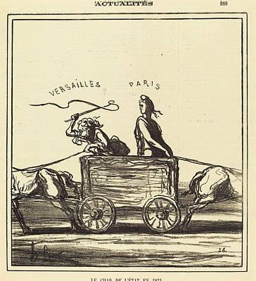 Honoré Daumier French, 1808 - 1879, Le Char De Létat En Art Print by Quint Lox