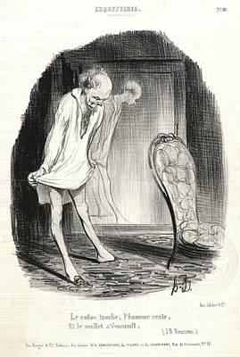 Honoré Daumier French, 1808 - 1879. Le Coton Tomb Art Print