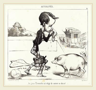 Classe Drawing - Honoré Daumier French, 1808-1879, Le Jeune Estancelin Est by Litz Collection