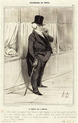 Honoré Daumier French, 1808 - 1879, Le Préfet De Lempire Art Print by Quint Lox