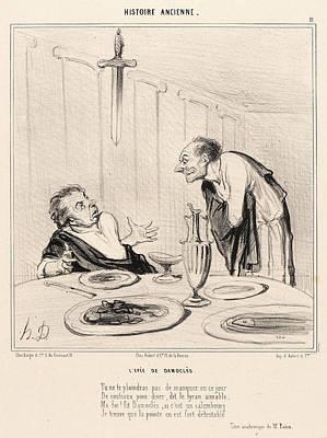 Paper Images Drawing - Honoré Daumier French, 1808 - 1879. Lepée De Damocles by Litz Collection