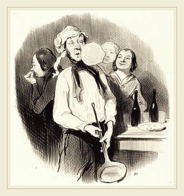 Honoré Daumier French, 1808-1879, Les Crêpes Art Print by Litz Collection