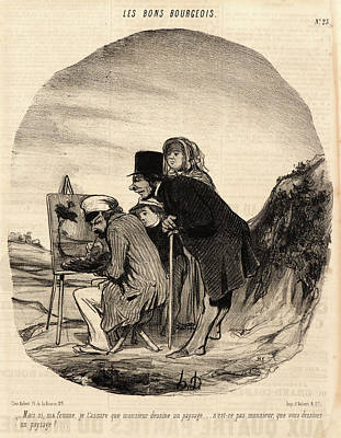 Mais Drawing - Honoré Daumier French, 1808 - 1879. Mais Si by Litz Collection