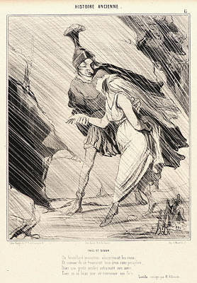 Honoré Daumier French, 1808 - 1879. Énée Et Didon Art Print