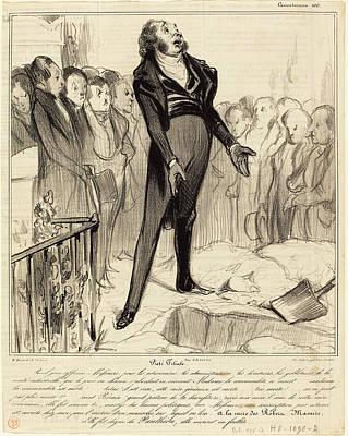 Pi Drawing - Honoré Daumier French, 1808 - 1879, Piétié Filiale by Quint Lox