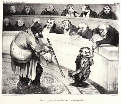 Pour Drawing - Honoré Daumier French, 1808 - 1879. Pour Un Pauvre by Litz Collection