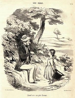 Honoré Daumier French, 1808 - 1879. Quand On A Un Père Art Print