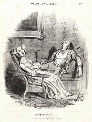 Honoré Daumier French, 1808 - 1879. Six Mois De Mariage Art Print