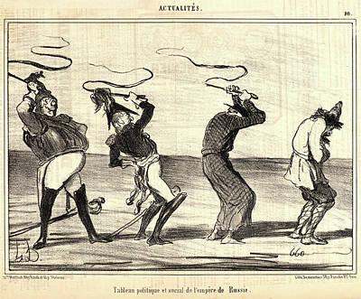 Empire State Drawing - Honoré Daumier French, 1808 - 1879. Tableau Politique Et by Litz Collection