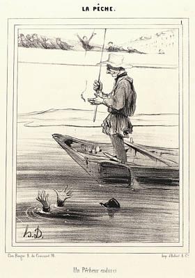 Paper Images Drawing - Honoré Daumier French, 1808 - 1879. Un Pecheur Endurci by Litz Collection