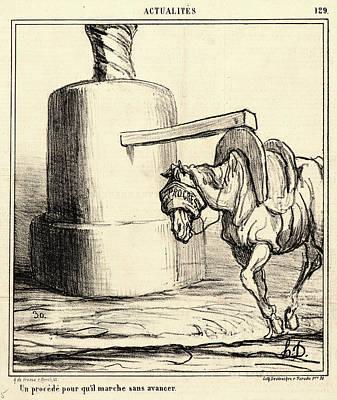Pour Drawing - Honoré Daumier French, 1808 - 1879. Un Procédé Pour Quil by Litz Collection