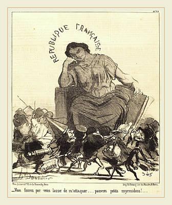 Honoré Daumier French, 1808-1879, Vous Finirez Par Vous Print by Litz Collection