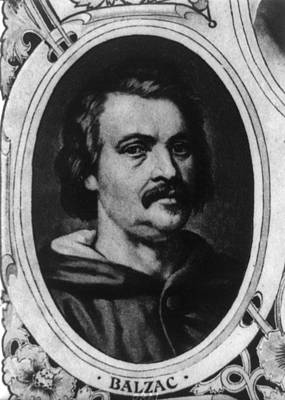 Balzac Photograph - Honor� De Balzac 1799-1850, French by Everett