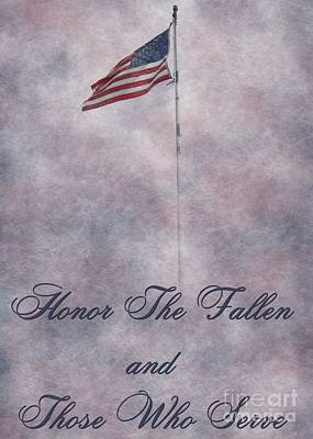 Digital Art - Honor Flag by JH Designs