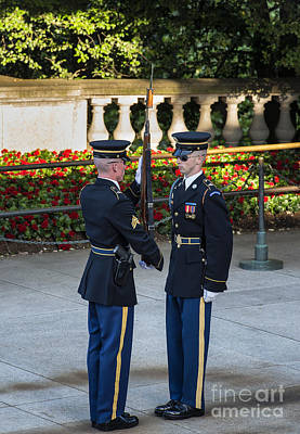 Changing Of The Guard Photograph - Honor Guard Inspection by John Greim