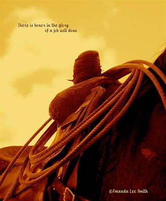 Photograph - Rested Western Saddle by Amanda Smith