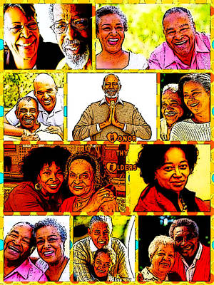 Digital Art - Honor Thy Elders by Karen Buford