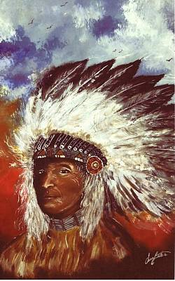 Painting - Honorable Chief by Jerry Bates