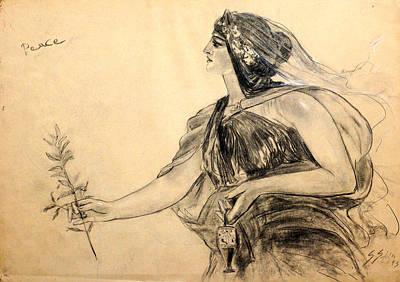 Drawing - Honore Gyzis - Peace by Sefedin Stafa