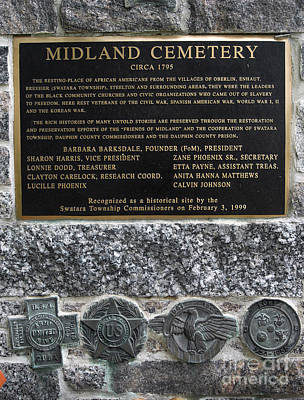 Midland Cemetery Photograph - Honored Blacks by Paul W Faust -  Impressions of Light