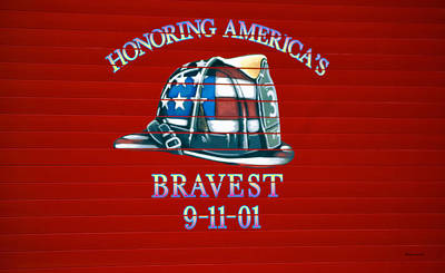 Honoring Americas Bravest From Sept 11 Art Print by Thomas Woolworth