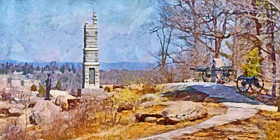 Digital Art - Honoring The American Heroes Of Gettysburg - 1 by Digital Photographic Arts