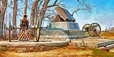 Digital Art - Honoring The American Heroes Of Gettysburg - 5 by Digital Photographic Arts