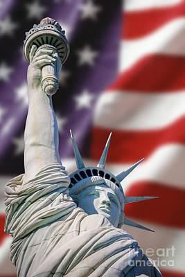 Honour Liberty And Freedom Art Print