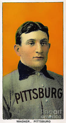 American Pastime Photograph - Honus Wagner Baseball Card 0838 by Wingsdomain Art and Photography