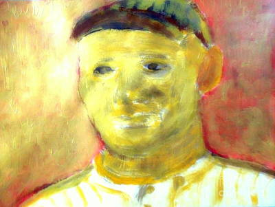 Babe Ruth Baseball Card Painting - Honus Wagner Greatest Shortstop 1 by Richard W Linford