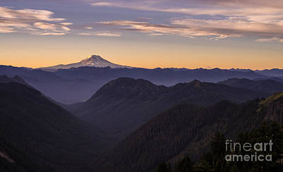 Photograph - Hood And Adams Sunrise Layers by Mike Reid