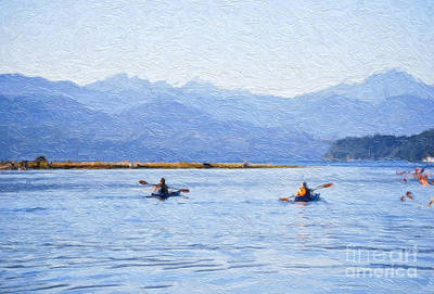 Photograph - Hood Canal Kayaks by Susan Parish