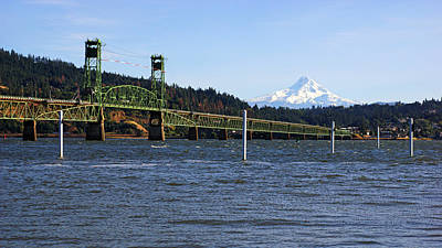 Photograph - Hood River Bridge by Daniel Woodrum