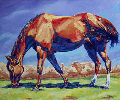 Wyoming Painting - Hoodoo Horse by Derrick Higgins