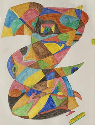 Abstract Shapes Painting - Hoodoo Man by Stormm Bradshaw