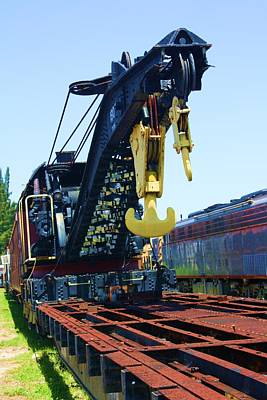 Old Caboose Photograph - Hooked 2 by Chuck  Hicks