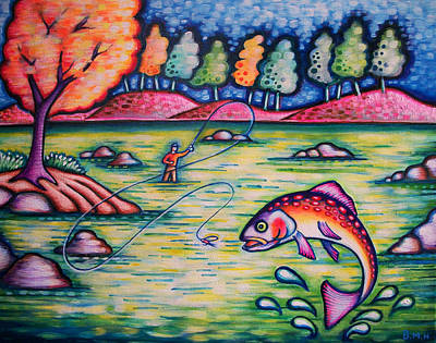 Painting - Hooked On You? by Brenda Higginson