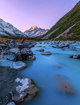 Hooker River, Mount Cook National Park Art Print by By Arief Rasa