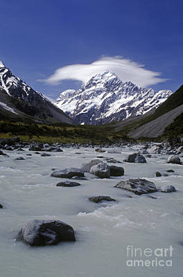Photograph - Hooker Valley And Mt Cook Nz by Craig Lovell