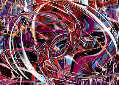 Digital Art - Hooking Up by rd Erickson