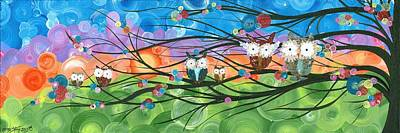Painting - Hoolandia Family Tree 04 by MiMi Stirn