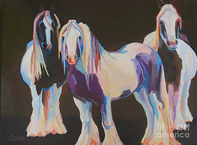 Gypsy Vanner Horse Painting - Hooligans by Kimberly Santini