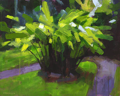 Kailua Painting - Hoomaluhia Path by Douglas Simonson