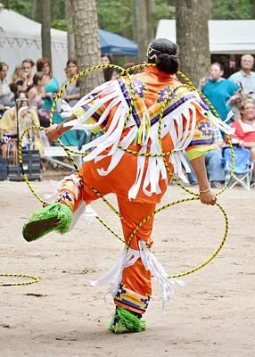 Photograph - Hoop Dance 2 - Nanticoke Powwow by Kim Bemis