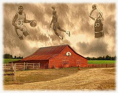 Jordan Painting - Hoop Dreams by Charles Ott