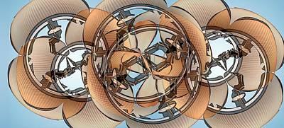 Hoop Flaps Art Print by Ron Bissett
