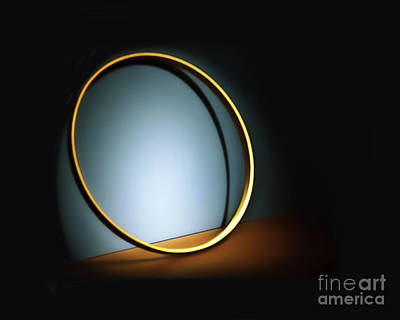 Photograph - Hoop Light Painting by Walt Foegelle