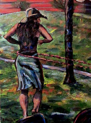 Painting - Hooping In The Park by Denny Morreale