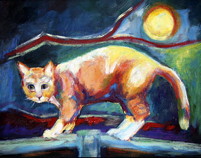 Painting - Hoosier The Night Cat by Carol Jo Smidt