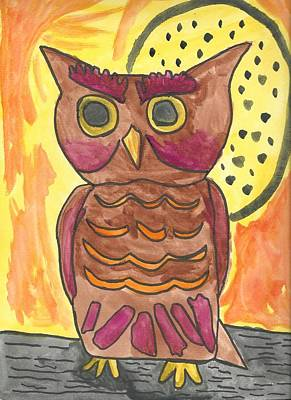 Drucker Painting - Hoot by Artists With Autism Inc